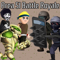 Area 51 Battle Royale logo - a battle royale browser game about Area 51, aliens and the USA government