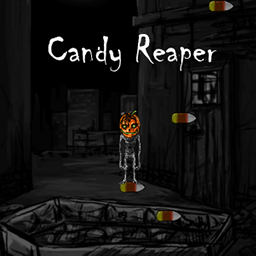 Candy Reaper logo - a creepy Halloween jumping browser game