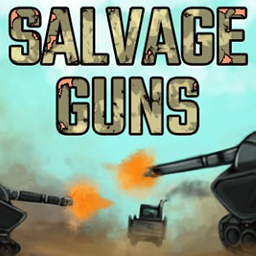 Salvage Guns logo - a free tank pvp multiplayer browser game